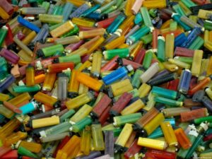 Every year an estimated 1.5 billion disposable lighters get put into landfills, taking around 100 years to breakdown.